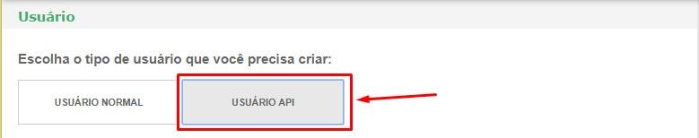 Usuário API